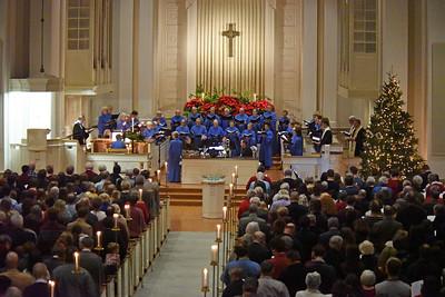 Christmas Eve Service at Davidson College Presbyterian Church.