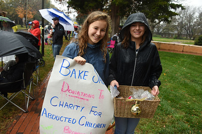 Youngsters soliciting for a worthy cause. (Bill Giduz photo)