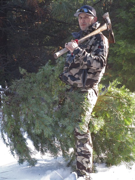 Don also believes in killing trees by making lots of small, rapid cuts to their trunk.