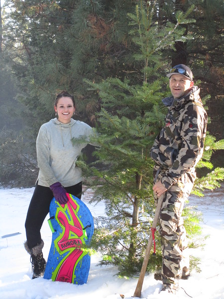 Rebecca and Don with Scraggles the Tree