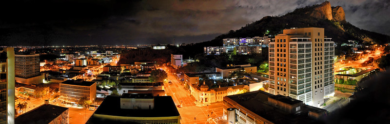 Townsville City Nightscape from Wills Street.
