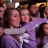 Makenna Ludwig and sister Alizabeth (6) observe a tribute to Zach Sobiech during the annual Clouds' Choir for a Cause event at the Mall of America on Friday, Jan. 13, 2019. (Jack Rodgers / Pioneer Press)