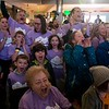 Participants cheer before the start of the annual Clouds' Choir for a Cause event at the Mall of America on Friday, Jan. 13, 2019. (Jack Rodgers / Pioneer Press)