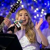 Sabrina Carpenter speaks during the annual Clouds' Choir for a Cause event at the Mall of America on Friday, Dec. 13, 2019. (Jack Rodgers / Pioneer Press)