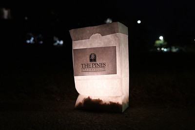 More than 150 luminaria were set up around the campus of The Pines.