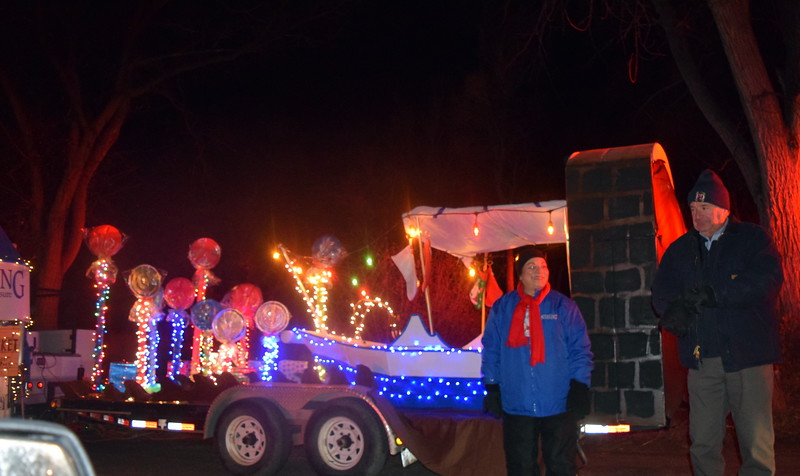 "City of Sterling employees were ready to board their boat and float down the chocolate river depicting a classic scene from the ""Willy Wonka and the Chocolate Factory"" movie for their float in the drive through Parade of Lights presented by the Logan County Chamber of Commerce Thursday, Dec. 3, 2020 at Pioneer Park."