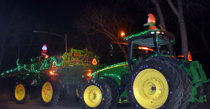 Farm equipment lit up the night at the Willy Wonka and The Christmas Factory themed drive through Parade of Lights presented by the Logan County Chamber of Commerce Thursday, Dec. 3, 2020, at Pioneer Park.
