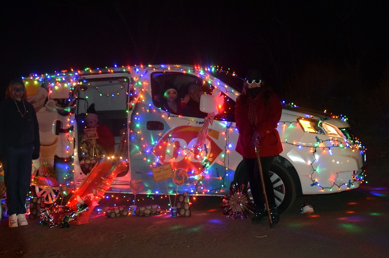 The Dairy Queen van was ready to deliver some sweet treats at the Willy Wonka and The Christmas Factory themed drive through Parade of Lights presented by the Logan County Chamber of Commerce Thursday, Dec. 3, 2020, at Pioneer Park.