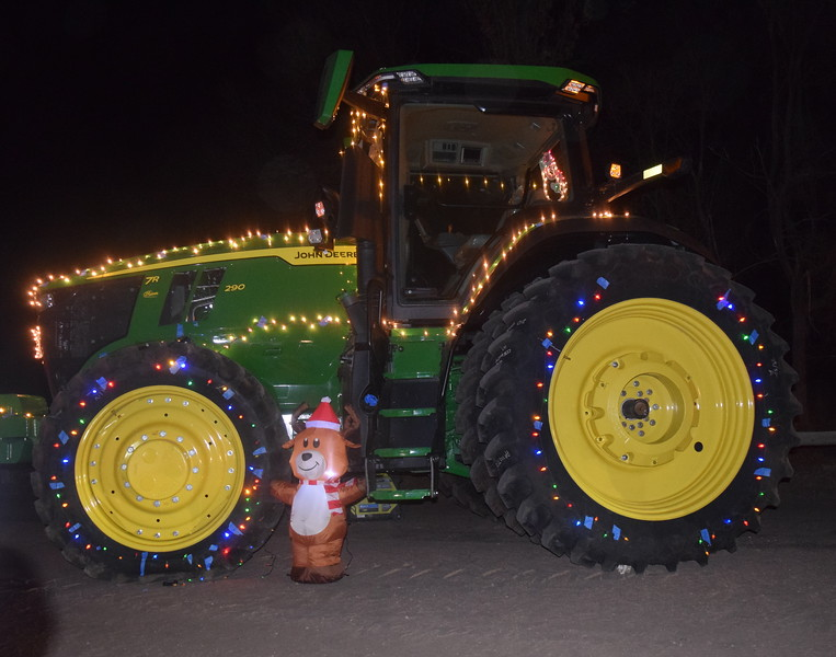 A tractor lit up for the holiday season was part of the Willy Wonka and The Christmas Factory themed drive through Parade of Lights presented by the Logan County Chamber of Commerce Thursday, Dec. 3, 2020, at Pioneer Park.