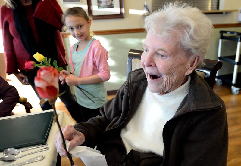 Roses for Seniors on Valentines Day