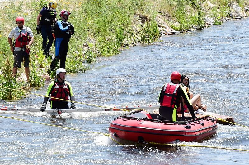 St Vrain Creek Rescue in Lyons