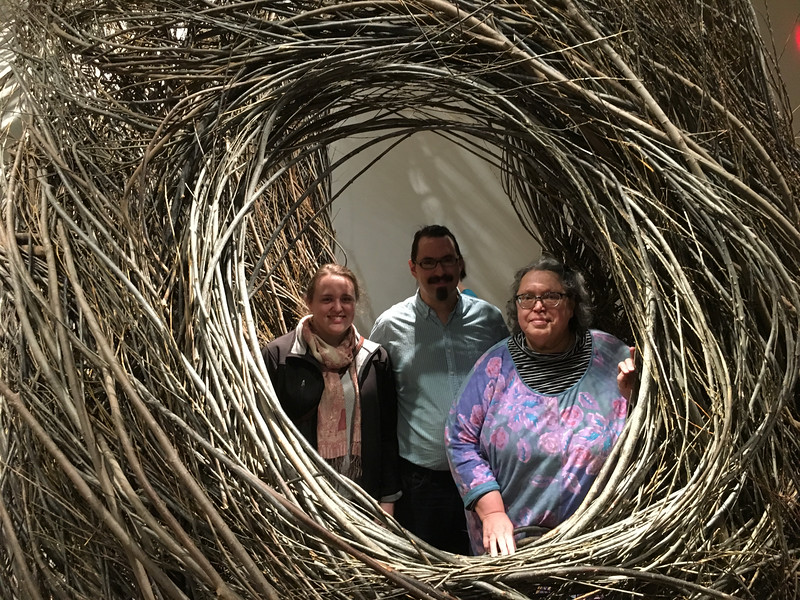 There was a roomful of Patrick Dougherty stick weavings to wander in and out of -
