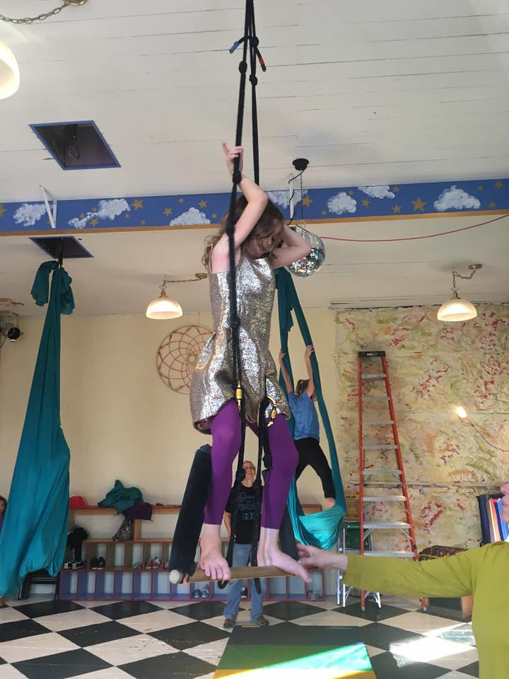 "Nah. Totally staying with circus acrobat, at least for the time being. This wonderful circus arts program is at The Rumpus Room in Mazomanie, Wisconsin:<br /> <a href=""http://therumpusroom.org"">http://therumpusroom.org</a><br /> <br /> (Photo: Miranda)"