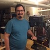 Thomas continues to work on-site at the National Institutes of Health in Bethesda with a project to upgrade the submission system for GenBank. He's also putting together a woodworking shop in their basement.<br /> <br /> Photo: Jessica