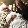 "Eliot's father had been ill for several months. Here he is in January with Eliot's sister Katherine, visiting him in a nursing home. On February 15, aged 93, he died at home in his own bedroom with his wife, Dana Whyte, close by. A blessed death.<br /> <br /> His obit is here - <a href=""http://www.legacy.com/obituaries/gazettenet/obituary.aspx?pid=184421599"">http://www.legacy.com/obituaries/gazettenet/obituary.aspx?pid=184421599</a>"