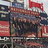 Thomas sings with a small local choir, Six Degree Singers. Here they're delivering the National Anthem at a Nats game.<br /> <br /> Photo: Jessica