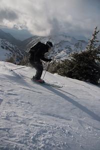 Little Cottonwood Backcountry skier