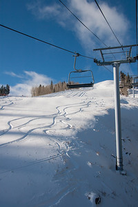 Sun Peak ski tracks