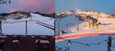December snowpack comparison photo 1