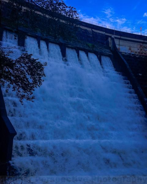 High Water in the Alpine Spillway