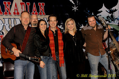 Duane Steele, Paul Chapman, Erin Haley, Sean Hogan, Samantha King, Shane Chisholm - Canadian Country Christmas tour at Blackjacks Roadhouse, Nisku - 2013