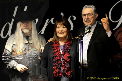 Norm Sliter, Joyce Smith, Gene Zwozdesky - Fiddlers Roost Xmas Party 2013 089
