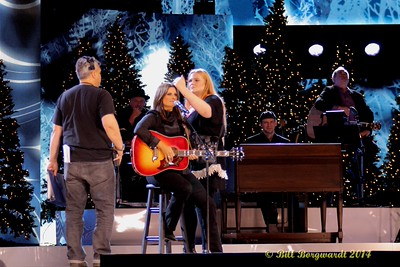 Terri Clark getting last minute direction and prepping - CCMA Holiday Special