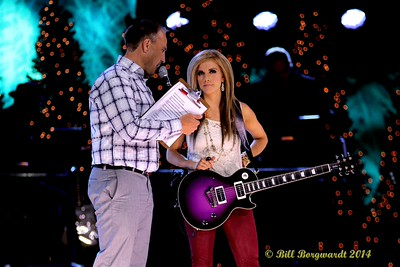 Chris Sheets of CISN interviews Lindsay Ell between takes - CCMA Holiday Special