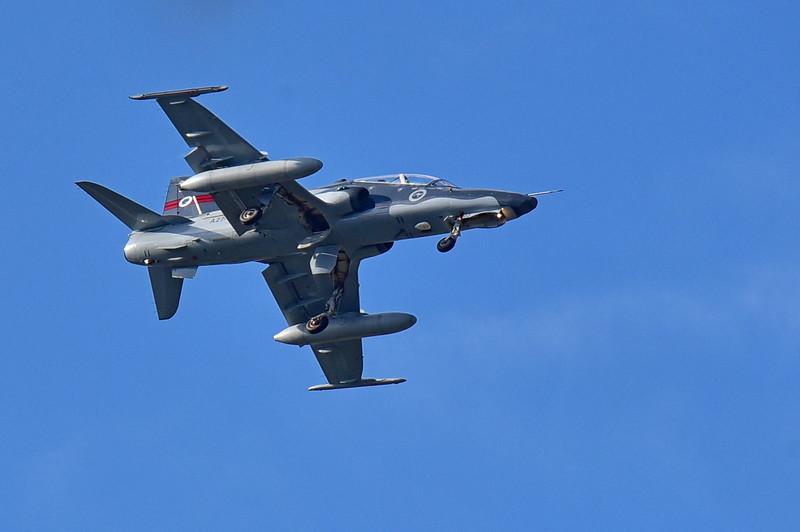 BAE Hawk Trainer. Landing at RAAF Base Townsville.