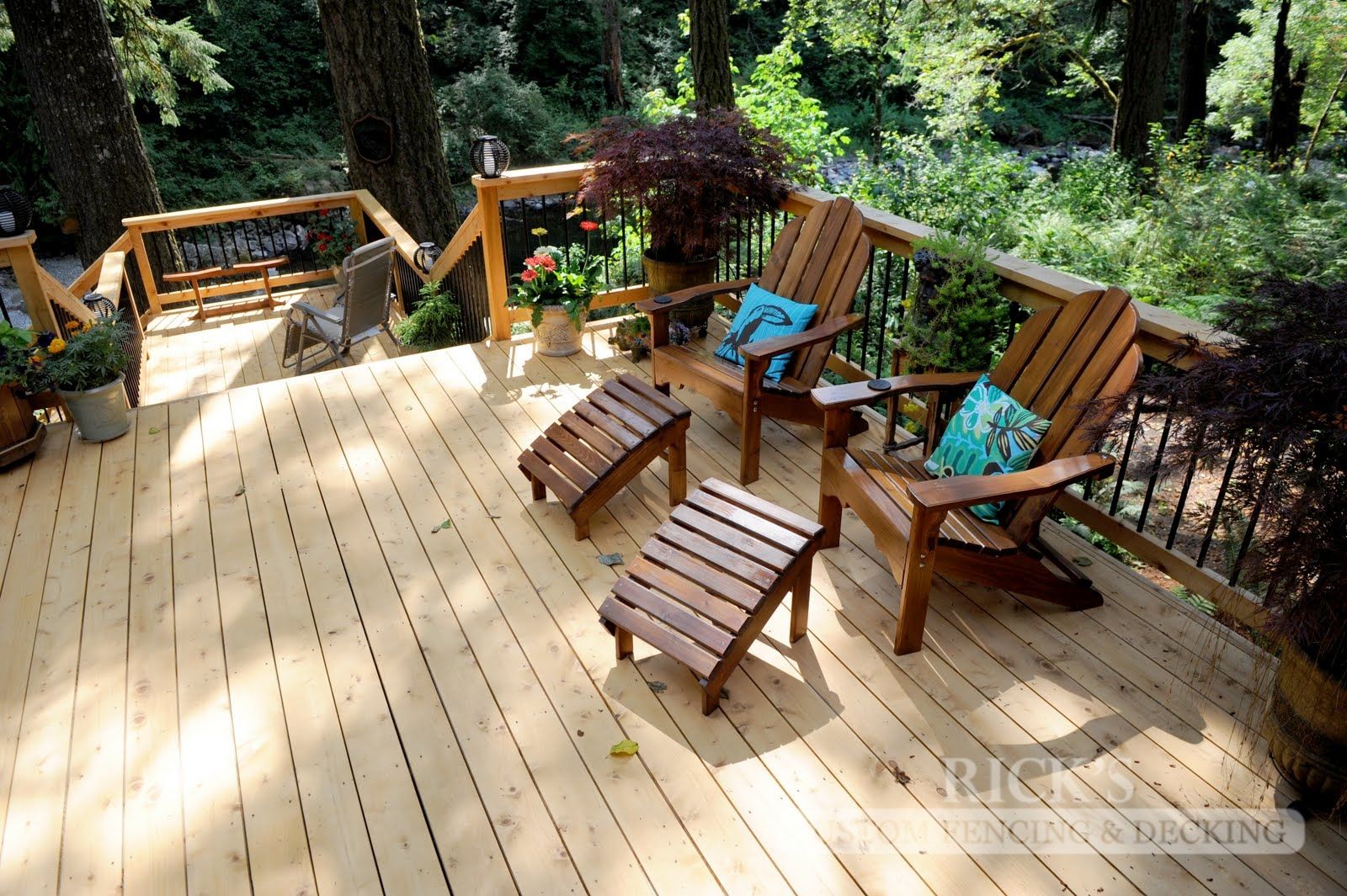 1054 - Port Orford Cedar Decking with Handrail