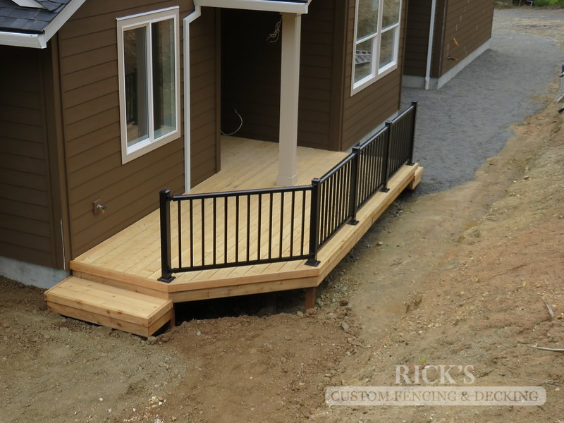 Port Orford Cedar Decking with Aluminum Handrail
