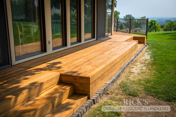 1006 - Stained Port Orford Cedar Decking