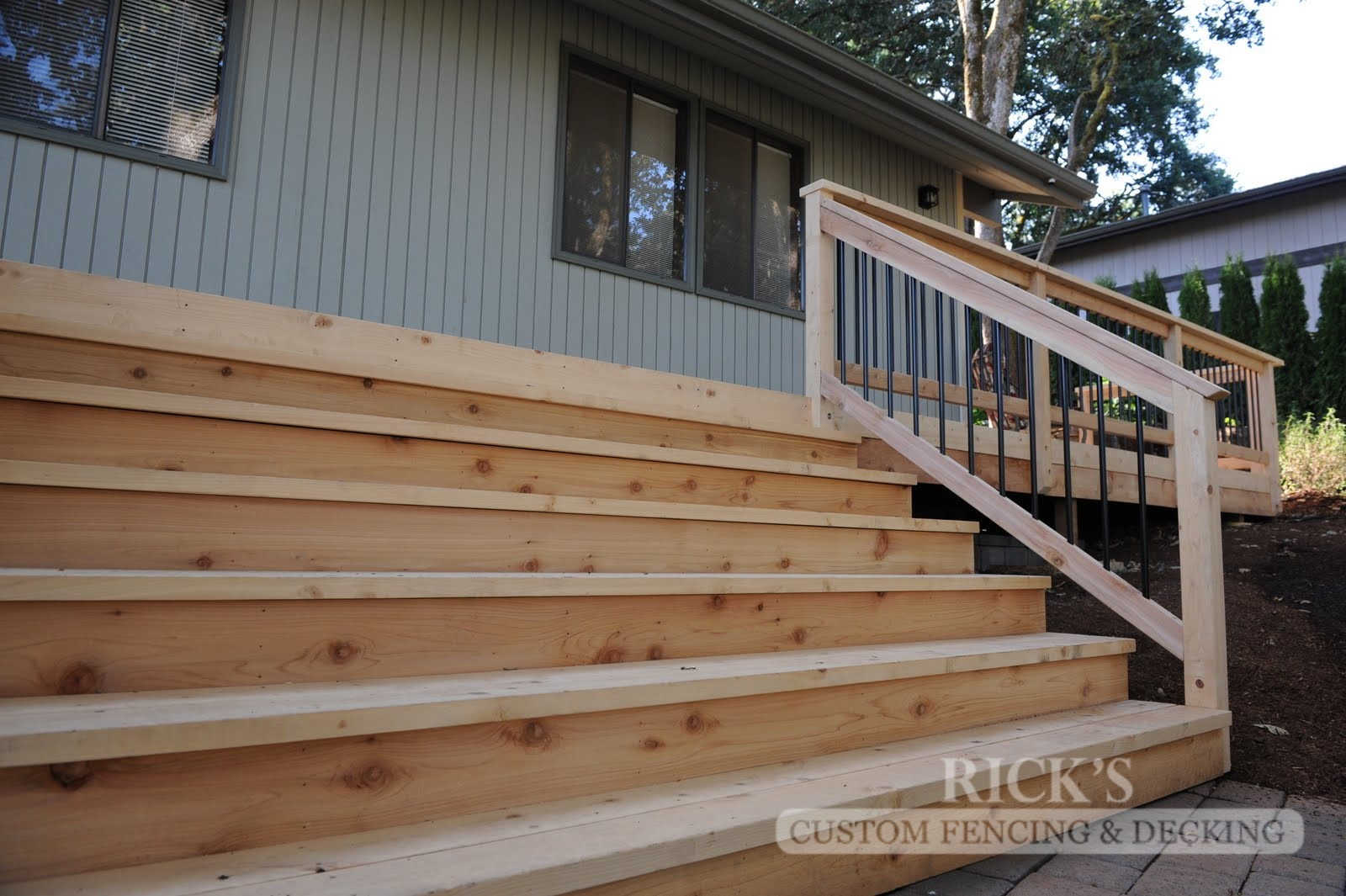 1031 - Port Orford Cedar Decking with Handrail