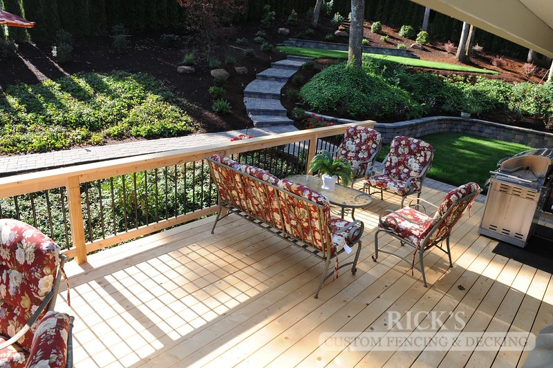 Port Orford Cedar Decking with Handrail