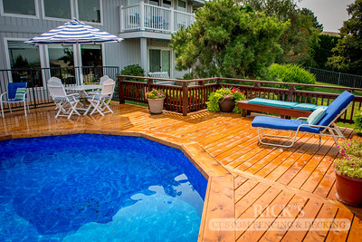 Stained Port Orford Cedar Decking