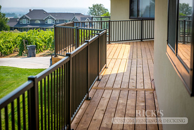 1010 - Stained Port Orford Cedar Decking with Aluminum Handrail
