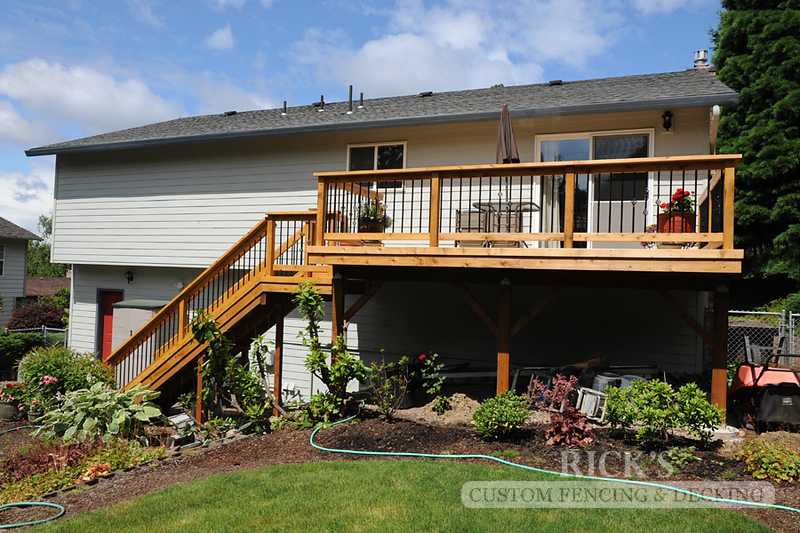 1038 - Port Orford Cedar Decking with Handrail