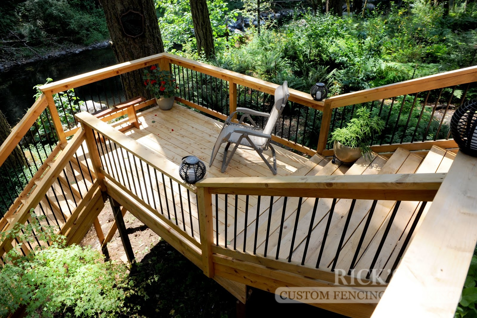 1053 - Port Orford Cedar Decking with Handrail