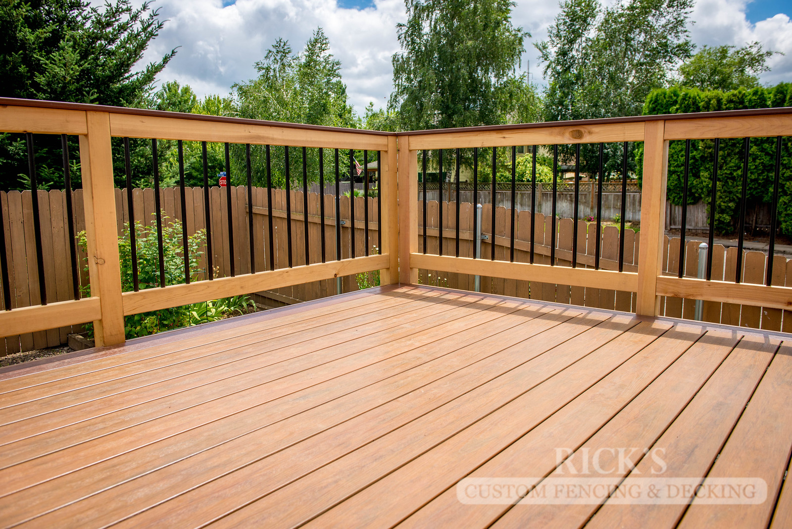 1546 - Cedar Handrail with Aluminum Balusters