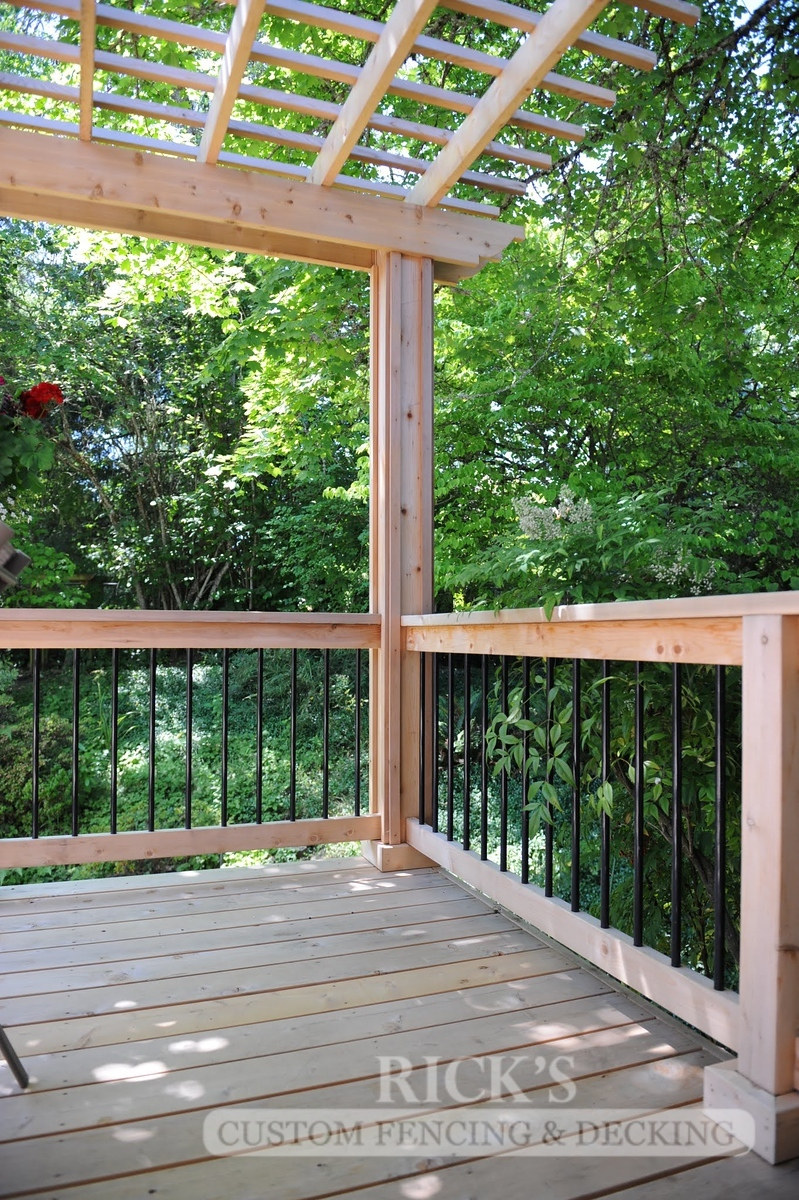 1681 - Cedar Handrail with Aluminum Balusters