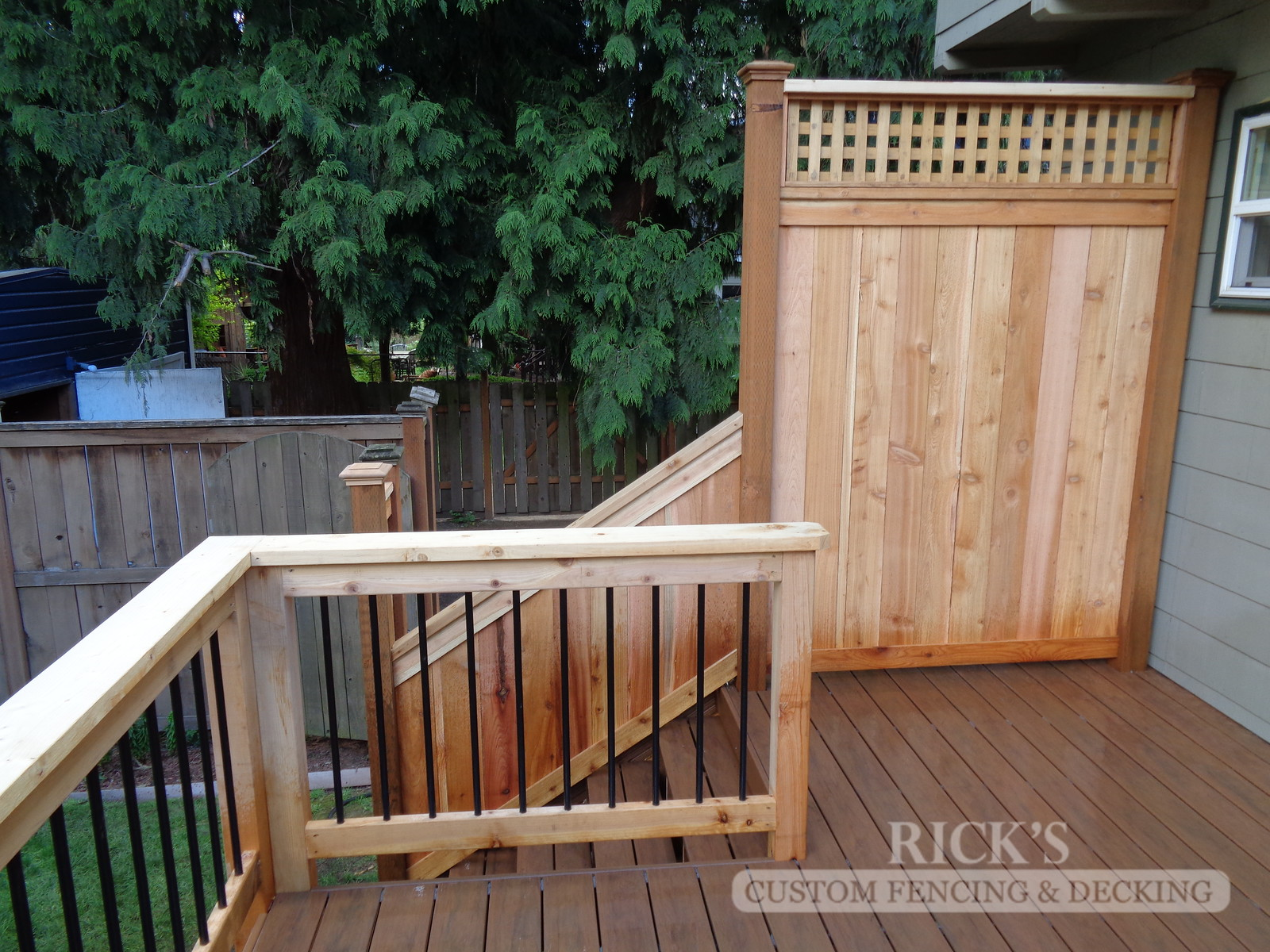 1642 - Cedar Handrail with Aluminum Balusters