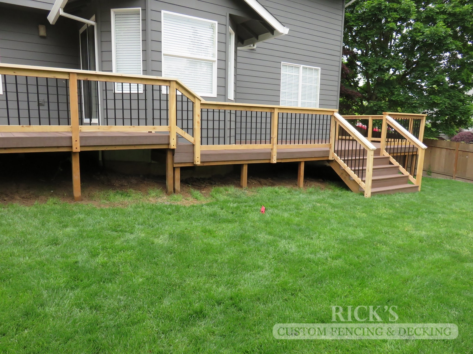 1616 - Cedar Handrail with Aluminum Balusters