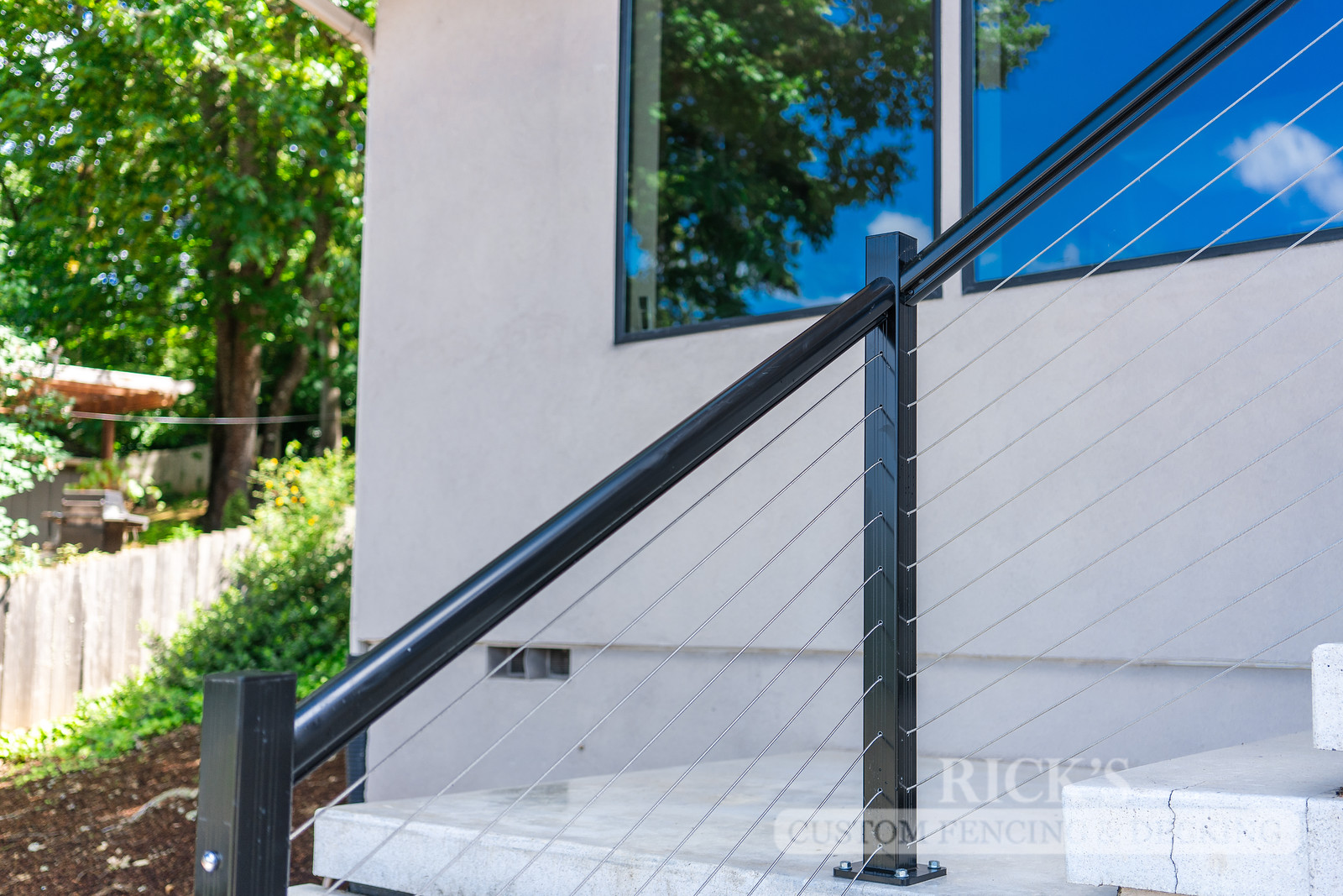 1704 - Aluminum Handrail with Stainless Steel Cable