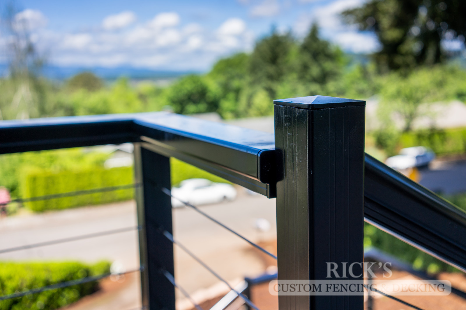 1701 - Aluminum Handrail with Stainless Steel Cable