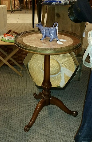 Marble Top end table for sale - Purple Cow Sold - August 2017