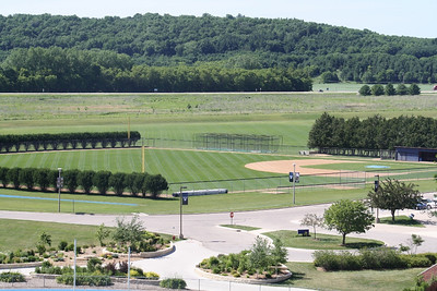 Baseball fields from the Student Union deck