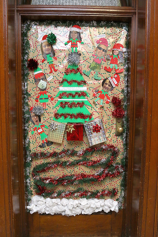 Decorated Office Doors At Leominster City Hall December 16