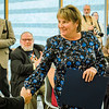 State Senator Anne Gobi speaks during the dedication of the Dr. Daniel M. Asquino Science Center at Mount Wachusett Community College on Tuesday afternoon. SENTINEL & ENTERPRISE / Ashley Green