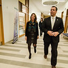 Lt. Gov. Karyn Polito and Gardner Mayor Mark Hawke tour the new Dr. Daniel M. Asquino Science Center at Mount Wachusett Community College on Tuesday afternoon. SENTINEL & ENTERPRISE / Ashley Green