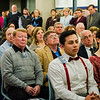 Guests listen in during the dedication of the Dr. Daniel M. Asquino Science Center at Mount Wachusett Community College on Tuesday afternoon. SENTINEL & ENTERPRISE / Ashley Green